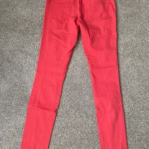 Forever 21 Premium Distressed Red Jeans Size 27